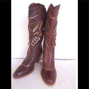 Gorgeous brown leather western boots 6